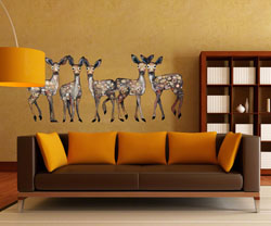 Some of our favorite stretched canvas art is now available as custom wall decals! GreenBox wall art stickers are removable and repositionable, meaning this beautiful herd can move from room to room with ease.