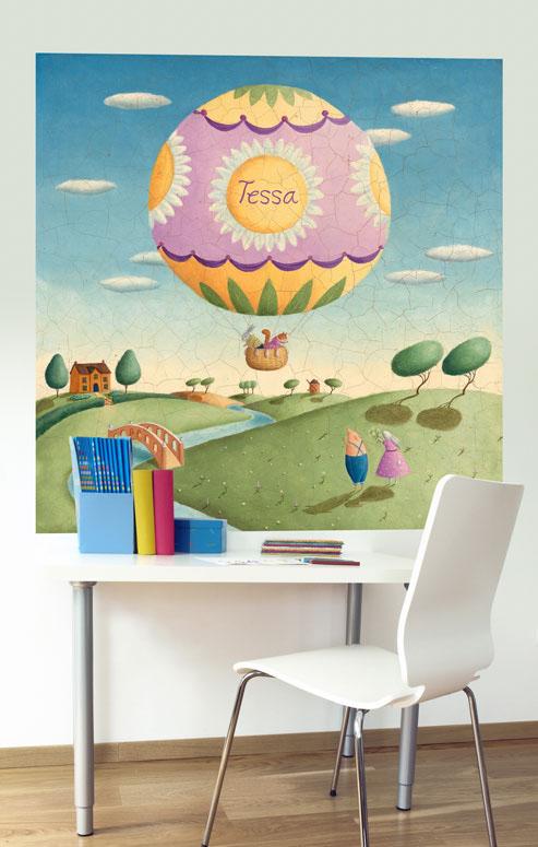 Balloon Adventurer Mural Decals by Alison Jay