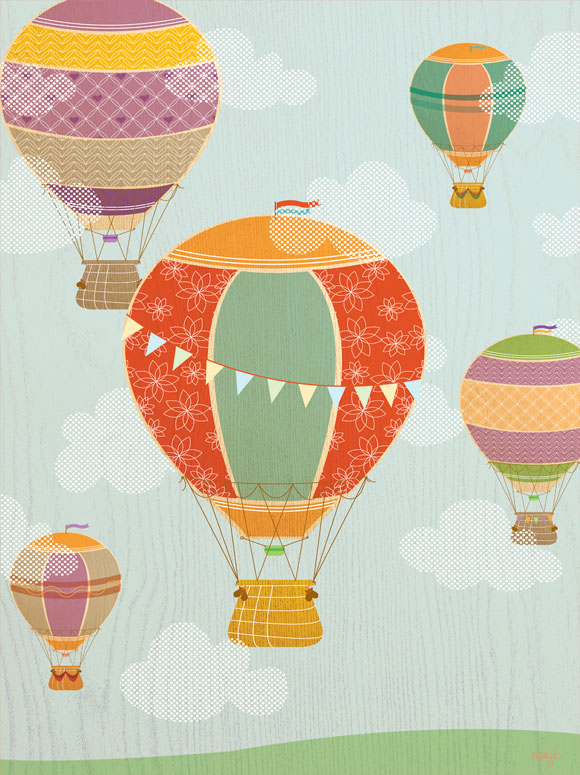 hot air balloon wall decals tktb