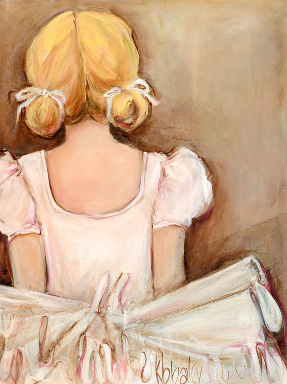 Beautiful Ballerina- Blonde Wall Art by Kristina Bass Bailey