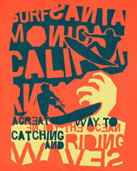 Catching A Wave Poster Decals by WP House