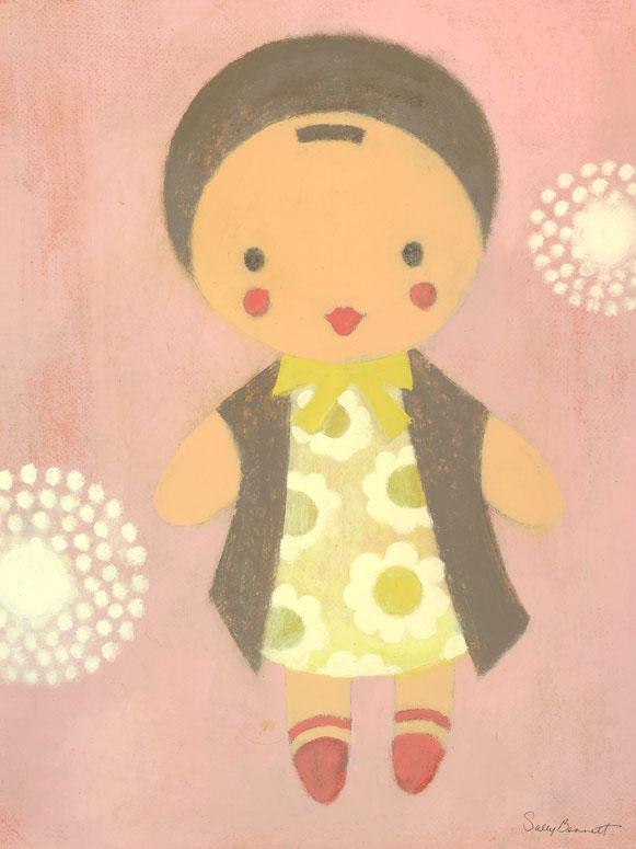Doll Baby Wall Art by Sally Bennett