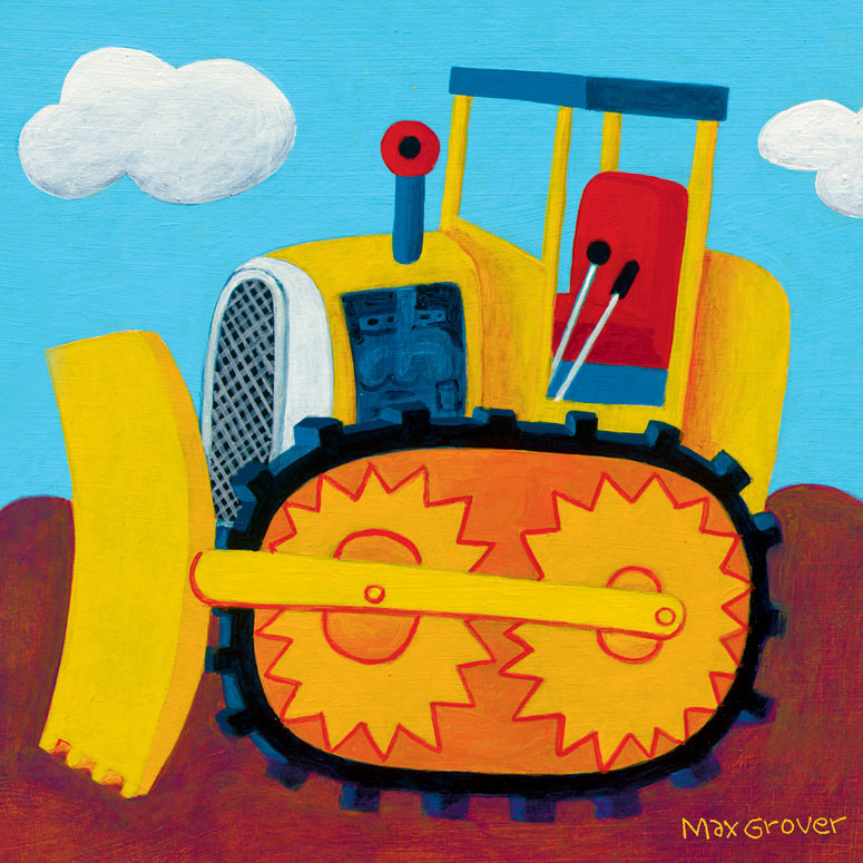 Oopsy daisy Earthmover Canvas Wall Art by Max Grover 10x10 in