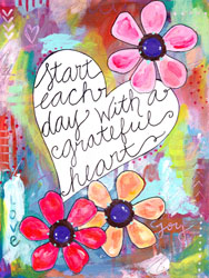 Grateful Heart Poster Decals By Bethany Joy