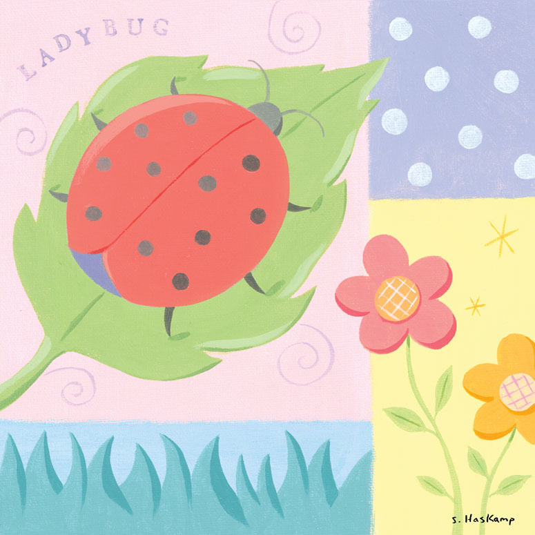 Ladybug Polkadot Wall Art by Steve Haskamp