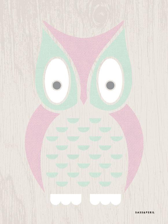 Modern Animals - Owl Wall Art By By Palafox Studio Sass&peril