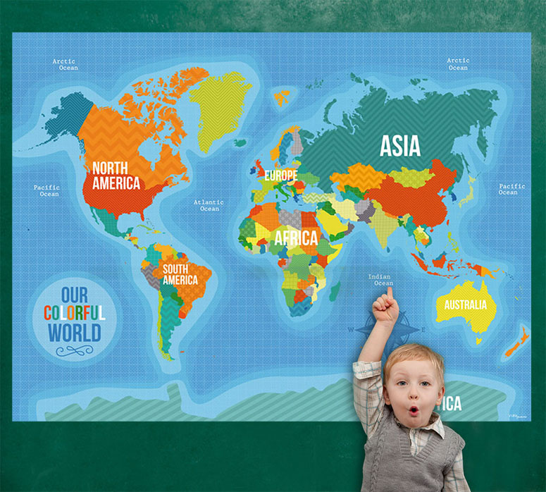 Our Colorful World Mural Decals by Vicky Barone