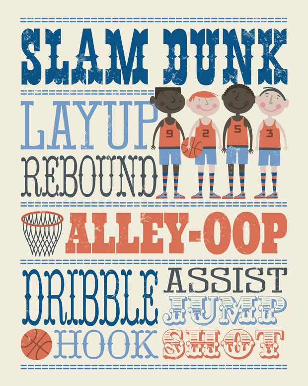 Play All Day - Basketball Wall Art by Edward Miller