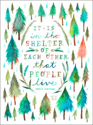 Shelter Of Each Other Poster Decals By Katie Daisy