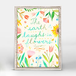 The Earth Laughs In Flowers Mini Framed Canvas By Katie Daisy