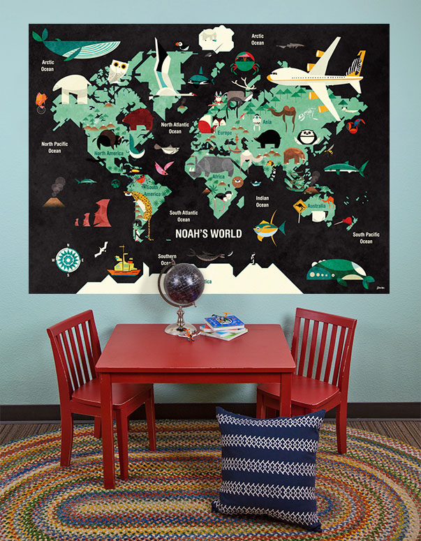 This Is Your World Mural Decals by Daviz
