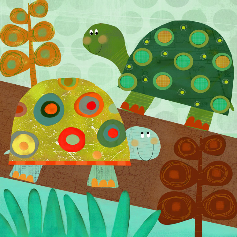 Turtle Pair Wall Art by Amy Schimler-Safford