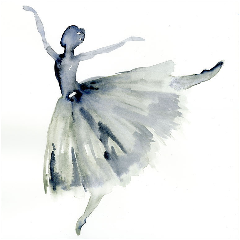 Watercolor Ballerina Wall Art by Shannon Newlin