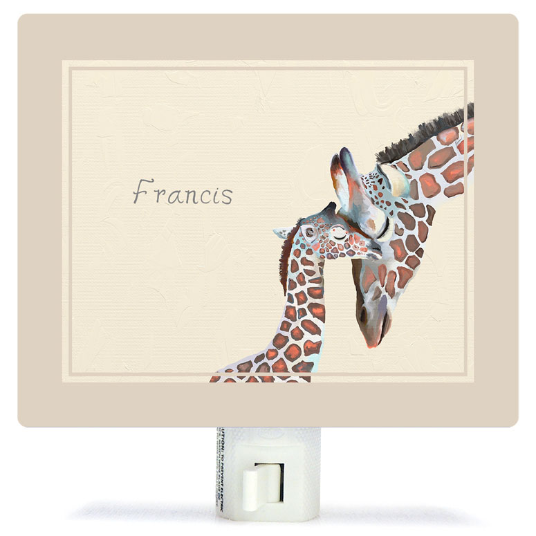 You And Me Giraffe - Neutral Night Lights by Cathy Walters