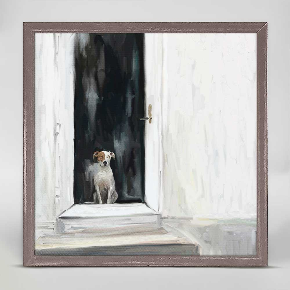 Best Friend - Waiting Mini Framed Canvas by Cathy Walters